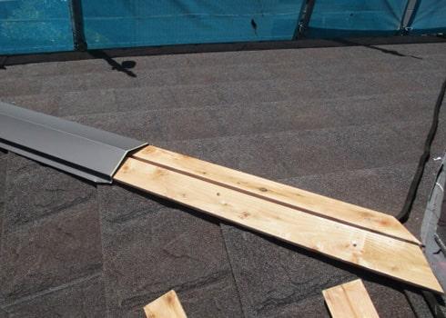 抜き板・棟板金の設置